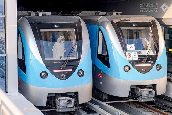 this is the image of dubai metro