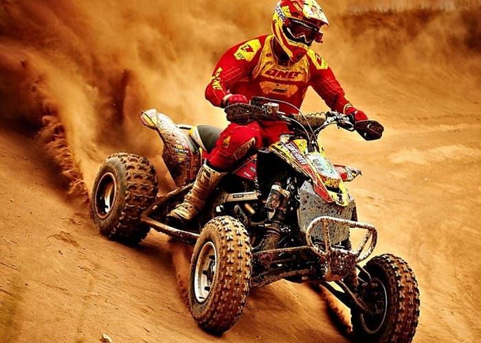 Desert safari bike racing